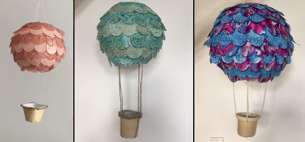 DIY - Heißluftballon-Lampe fürs Kinderzimmer basteln - Glückswolke
