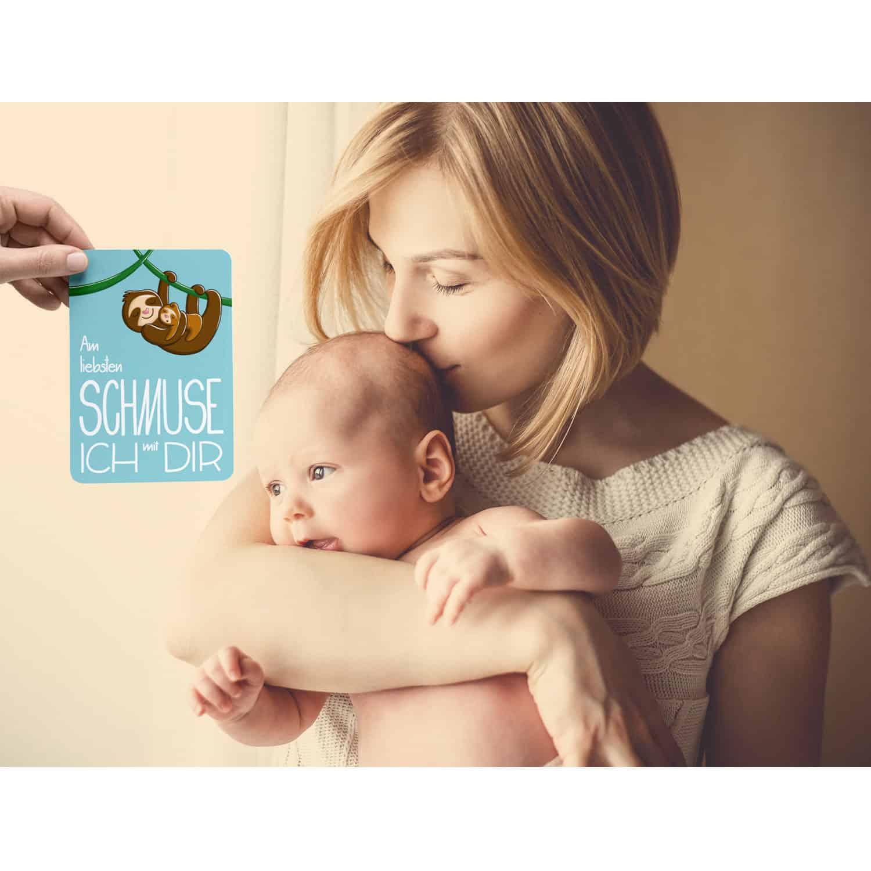 Glückswolke Meilenstein Karten Baby