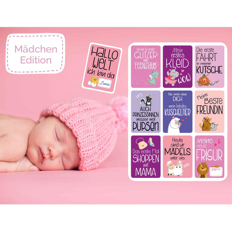 Glückswolke Meilensteinkarten Mädchen Edition